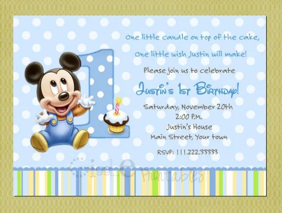 carte d invitation anniversaire bebe 1