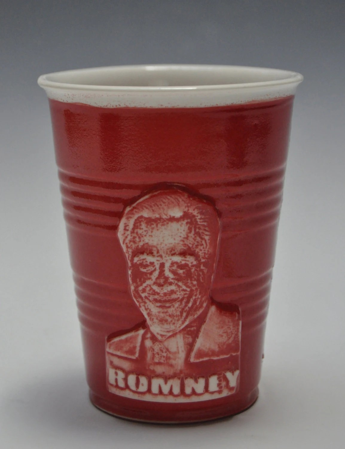 Mitt Romney ceramic party cup