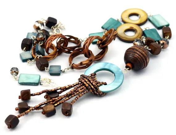 Samba - Beaded Necklace and Earrings Set