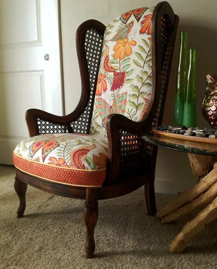 Themegan Funky Cane Wingback Chair