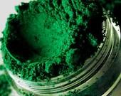 Envy - Semi Matte True Bright Green Mineral Eyeshadow - 10 Gram Sifter Jar - SMASH - SMASHCOSMETICS