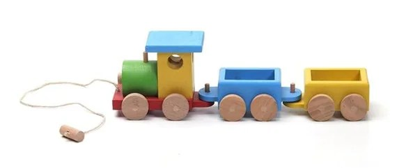 Wooden Train Wooden Toys Kids Toy Toddler Gift Wood Toy