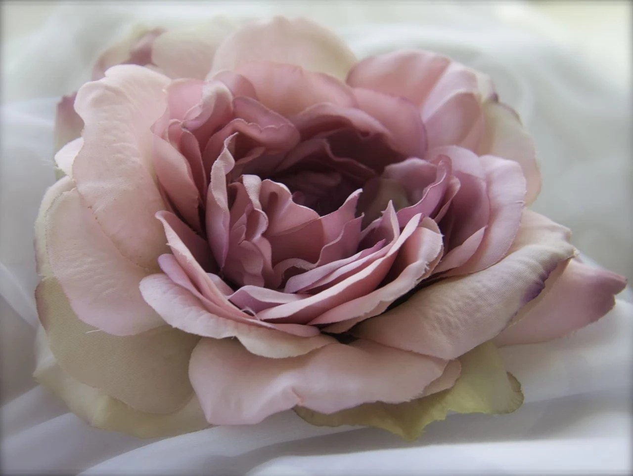 Items Similar To Flower Hair Clip Cabbage Rose Rhinestone