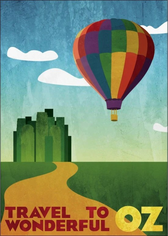 """Travel Poster - Oz (large - 18 x 24"""" or A2)"""