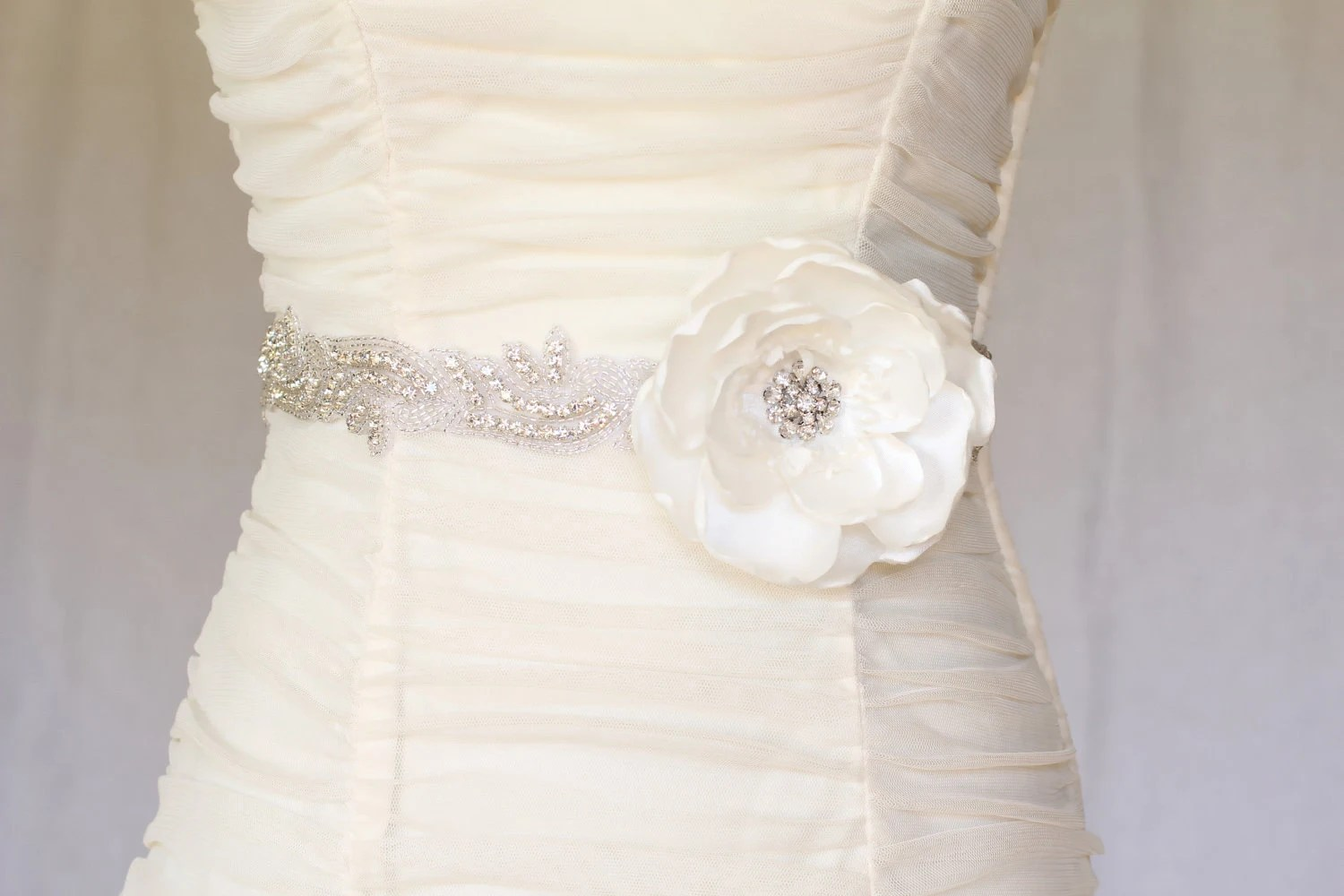 Abby Rhinestone Beaded Bridal Belt Sash Bridal By