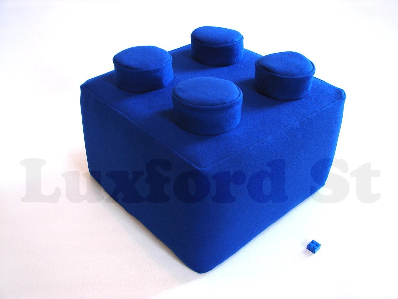 Lego Block Pillow - in Brilliant Blue