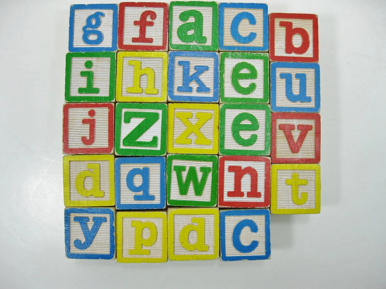 Wooden Alphabet Blocks With Lower And Upper Case Letters