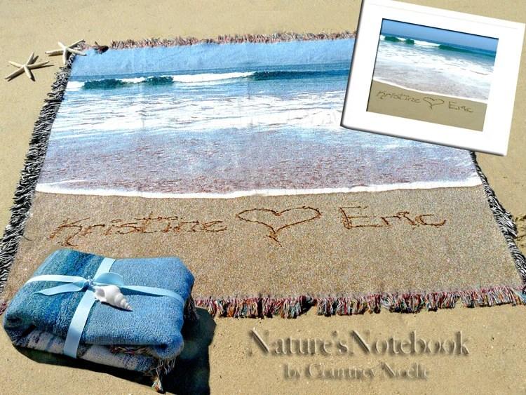 Items Similar To Unique Wedding Gift Custom Beach Blanket