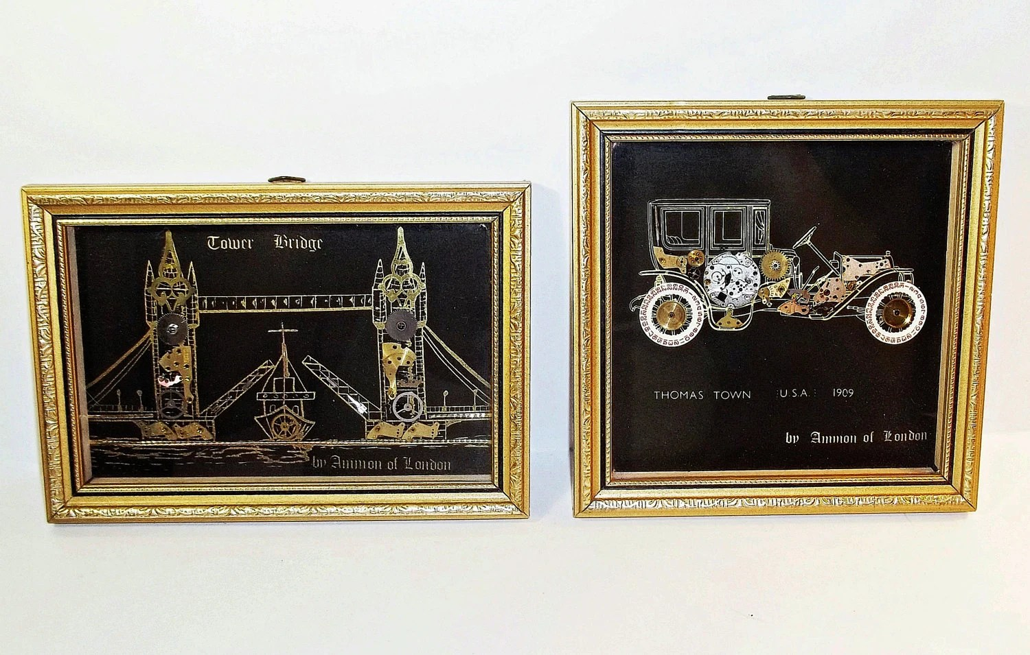 2 Framed Ammon Of London Watch Amp Clock By TracysVintageJewelry