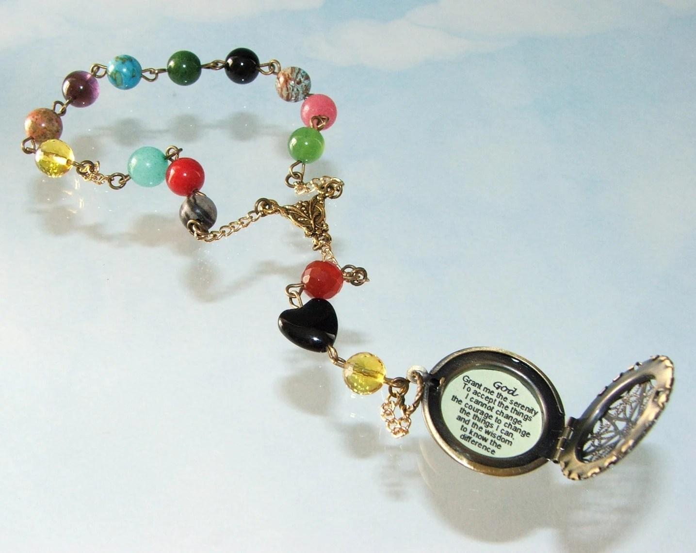 Serenity Prayer Beads Recovery 12 Step Beads