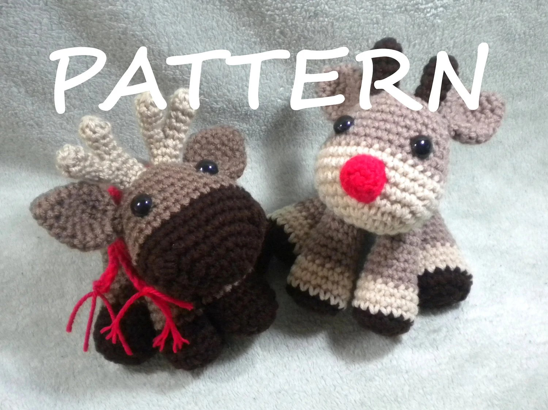 Moose Or Reindeer Crochet Amigurumi Pattern Amigurumi