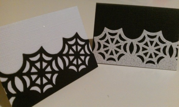 Customized Spooky Halloween Ghost Or Spiders Web Place Cards - Orlakittly