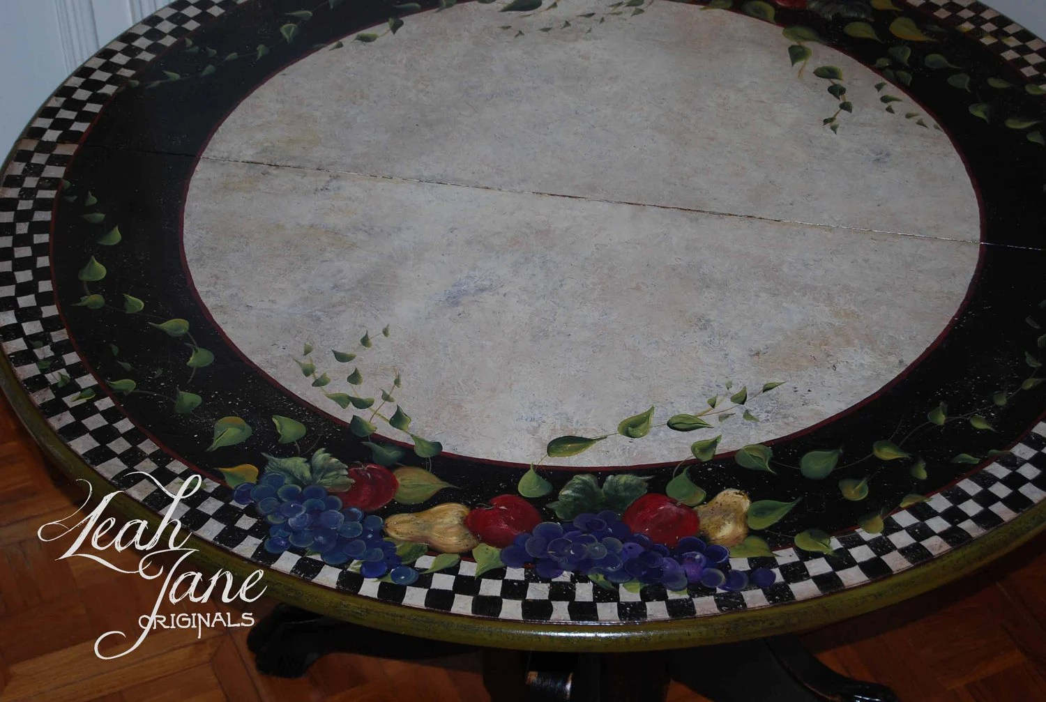 Hand Painted Dining Table Kitchen Table Breakfast Table One