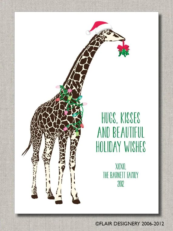 Holiday Greeting Card Set Of 24 Flat Cards Personalized