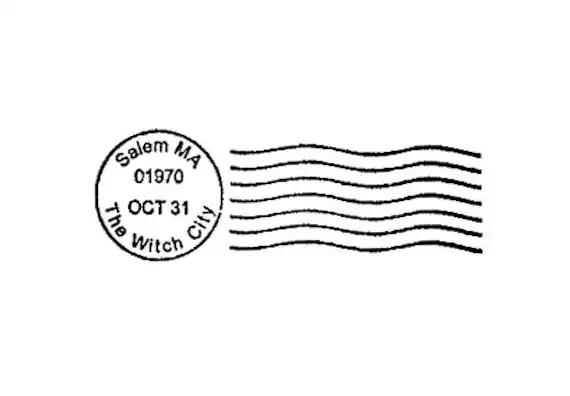 Halloween Postmark Rubber Stamp Postal Cancellation