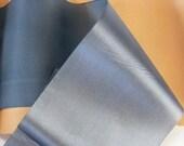 Antique 1900's Victorian French Silk Satin Ribbon 4 15/32 Inch Gorgeous Gun Metal Blue - FiniRibbon