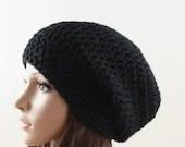Slouchy Hat Womens Hat Slouchy Beanie Black - zukas