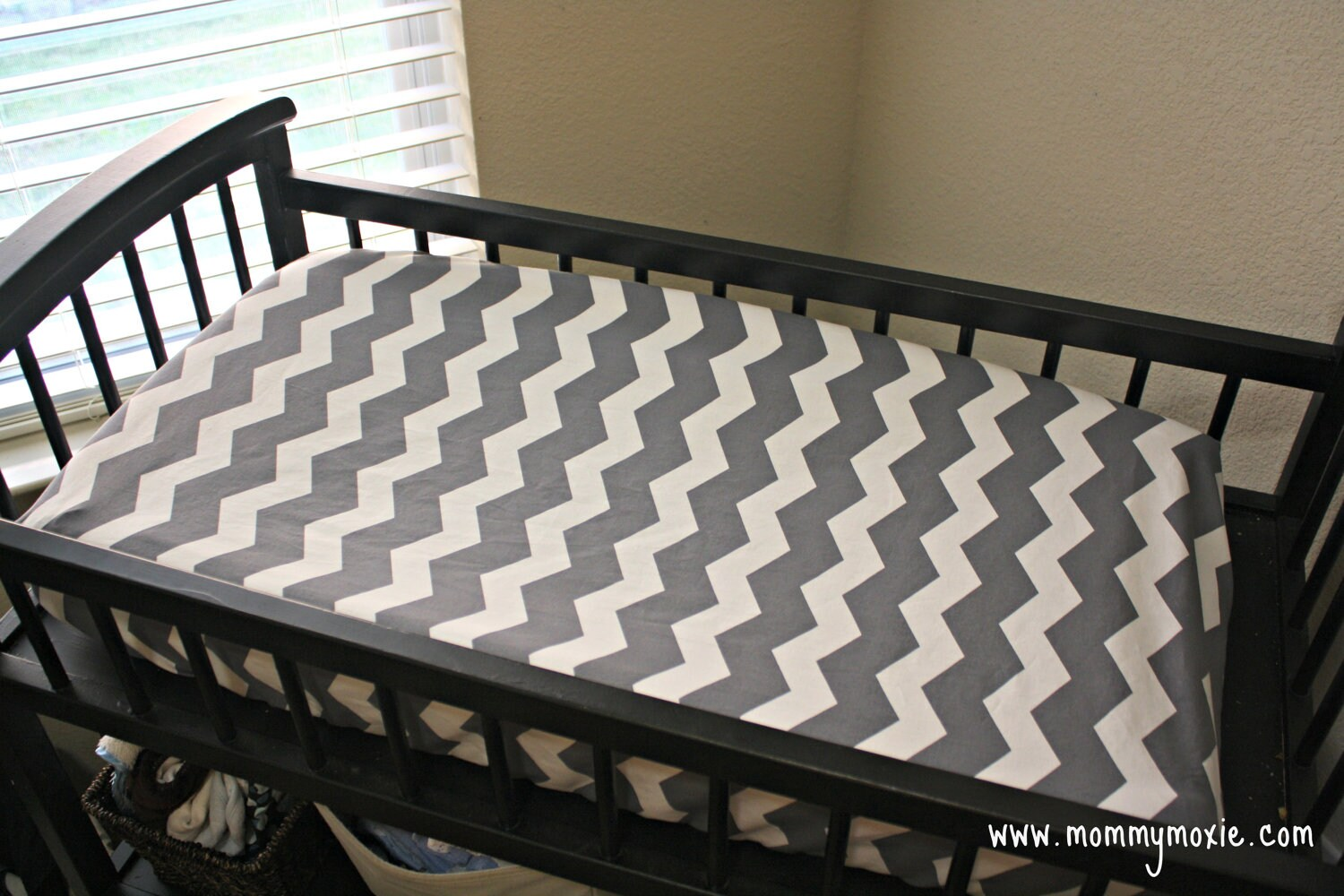 Gray Hot Pink Or Black And White Chevron Changing Table Pad