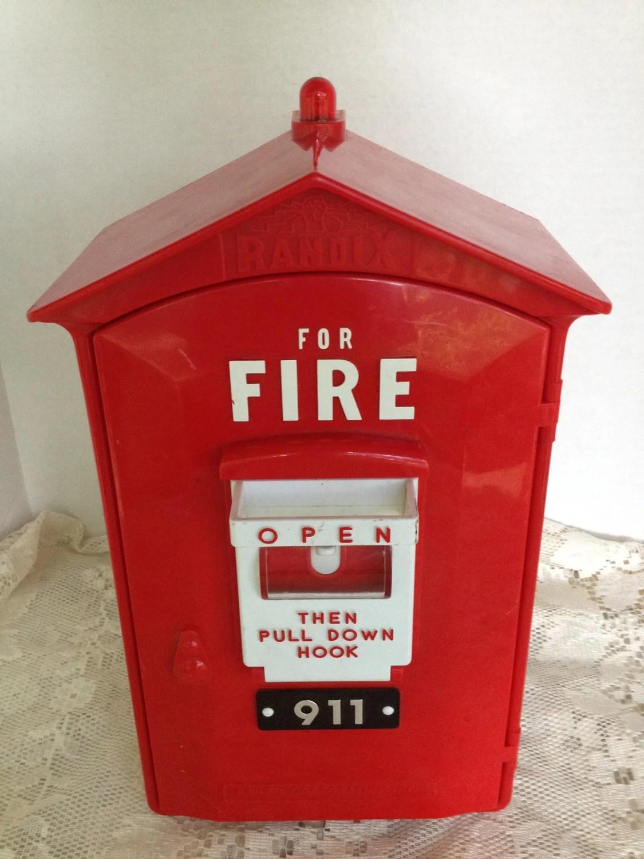 Fire Box Emergency 911 Touch Tone Telephone Randix