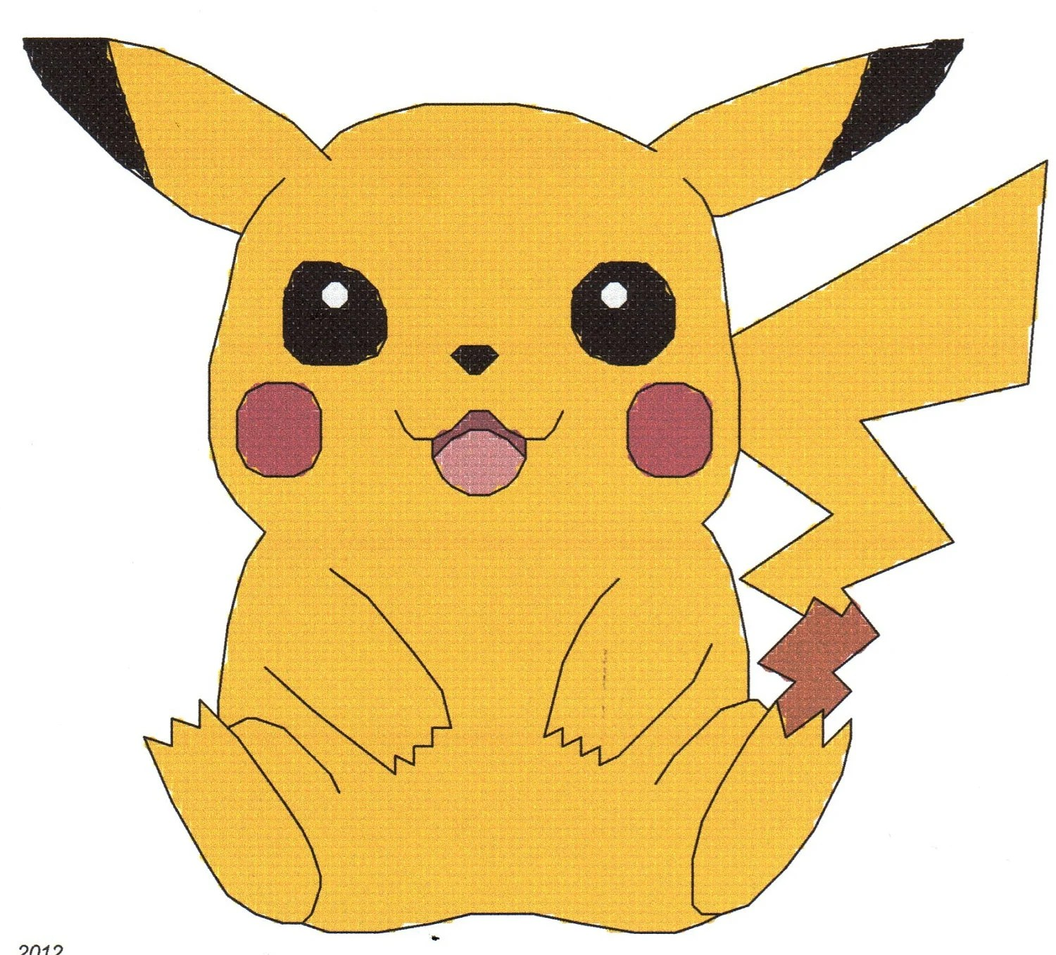 Pokemon Pikachu Counted Cross Stitch Pattern