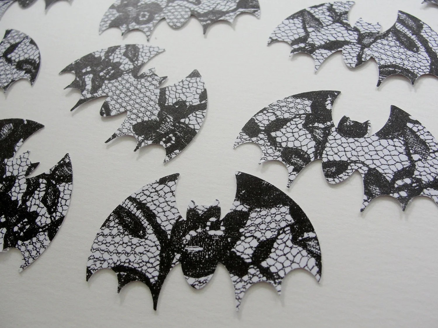 Halloween Paper Bats Black And White Bat Halloween Cut Outs