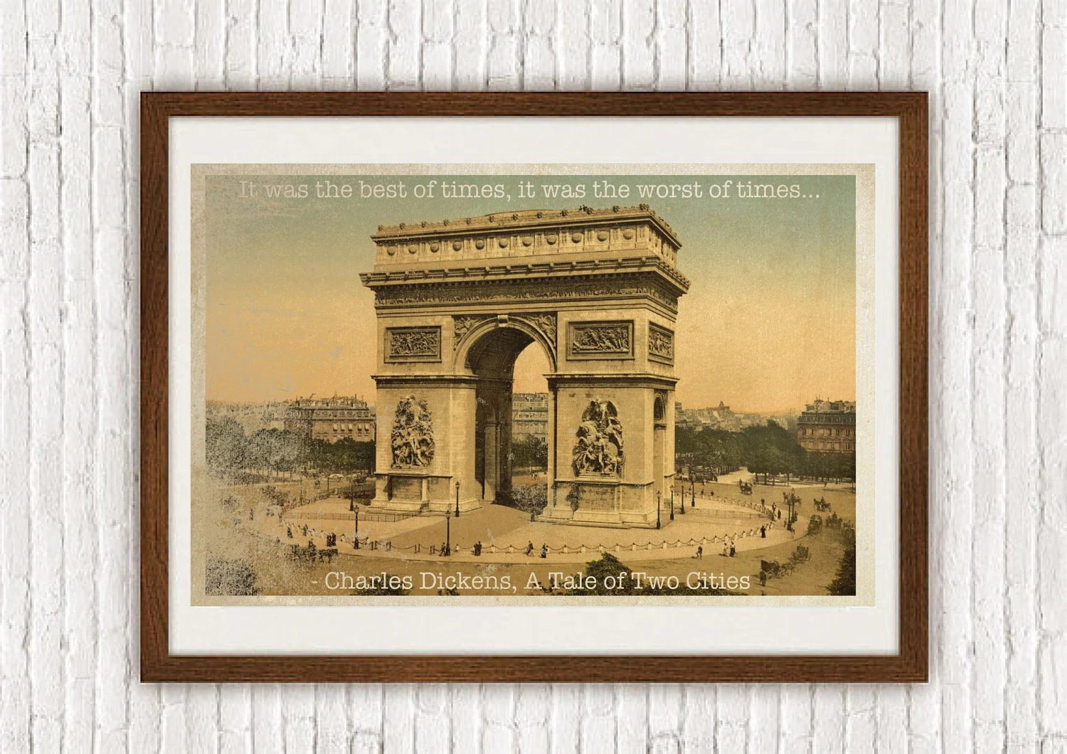 A Tale Of Two Cities 11x17 Art Print With Heart Studios