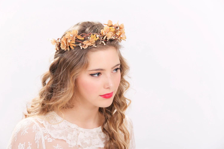 Rustic Flower Crown Bridal Headband Flower Crown Headpiece