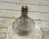 Vintage Glass Bottle Purple Clevenger Brothers 1975 Iris Coral Verg - vtgcharleys1
