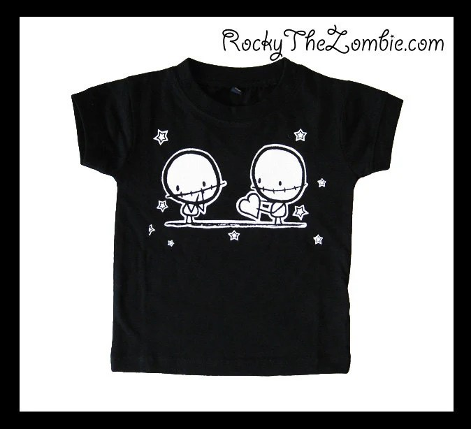Baby Zombie Lovers Cool Punk  black t-shirt Alternative Rock Goth