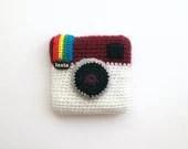 Instagram crochet camera - amigurumi unique piece - SILAYAYA