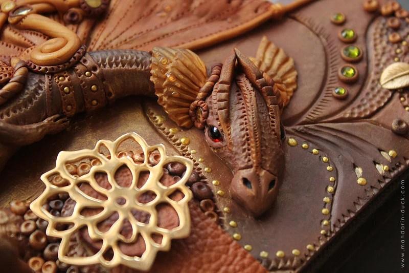 Fantasy Steampunk Dragon Journal by Mandarin Duck