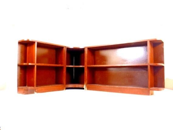 Corner Shelf Mid Century Modern Furniture Low Wooden