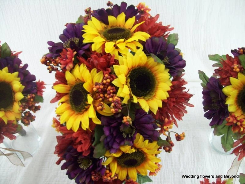 10 Piece MaDe To ORDeR FaLL WeDDiNG SiLK Flower Package