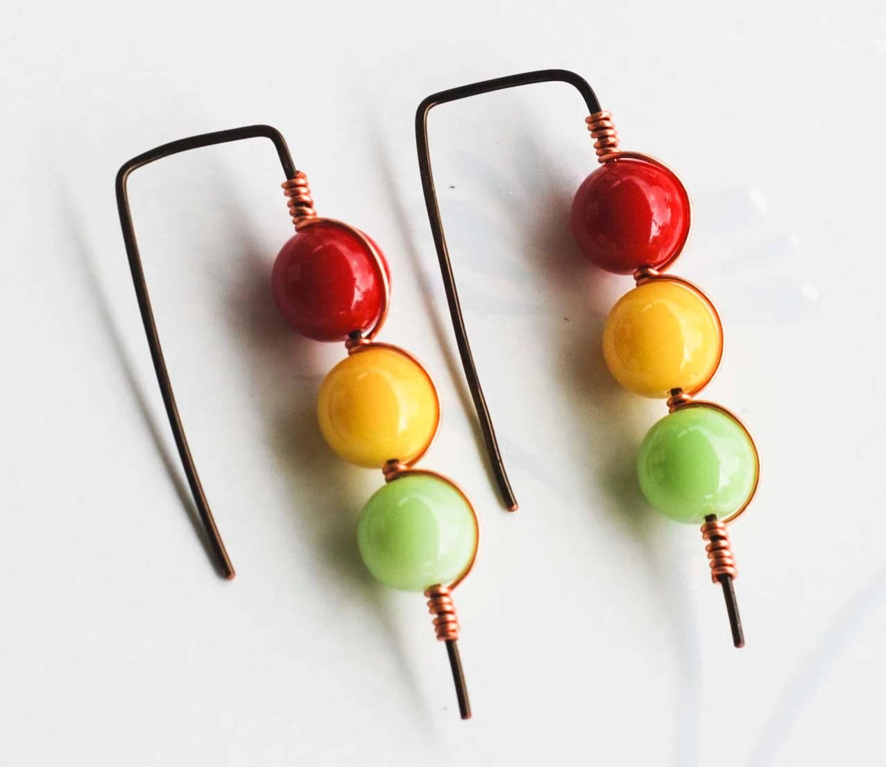 Traffic Light Stop Think Go Red Yellow Green Wire Wrapped Fun