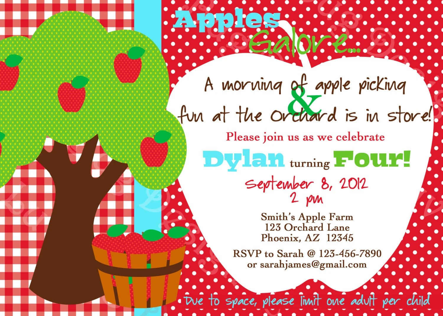 Printable Apple Picking Orchard Birthday Party By Luvbugdesign