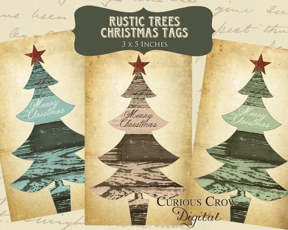 Items Similar To Rustic Christmas Gift Tags Digital