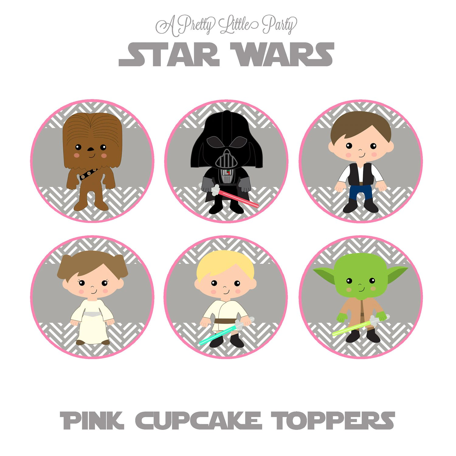 Star Wars Cupcake Toppers For Girls Character Cupcake