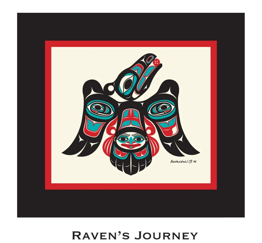 Raven S Journey 16x17 Matted Art Print Tlingit Northwest