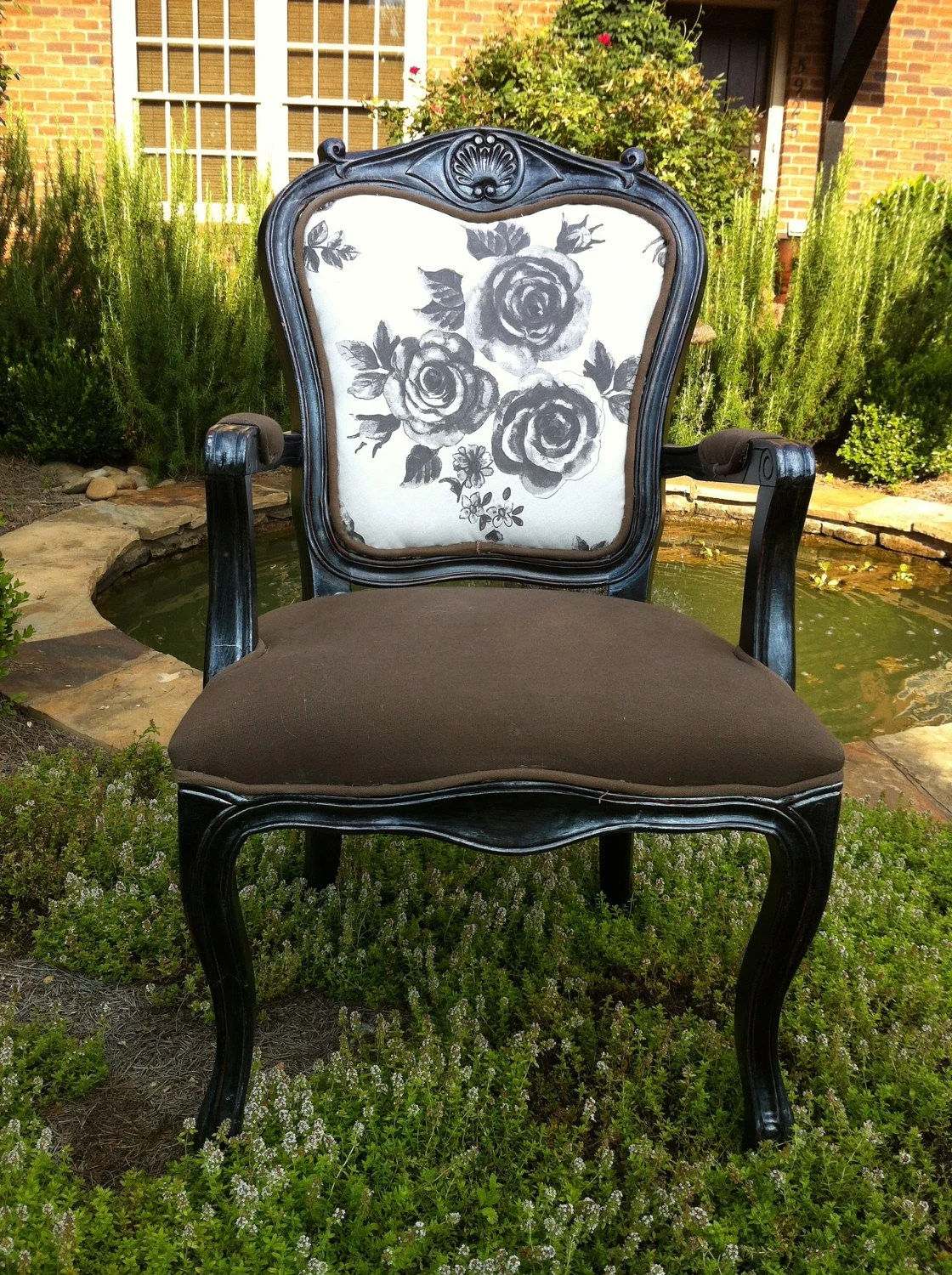 Reserved for Donna Shabby Chic French Arm Chair: Devon - lemonAIDER