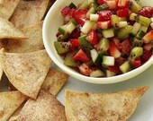 Adella Bellas Wild Strawberry Salsa And Brown Sugar Cinnamon Tortilla Chips