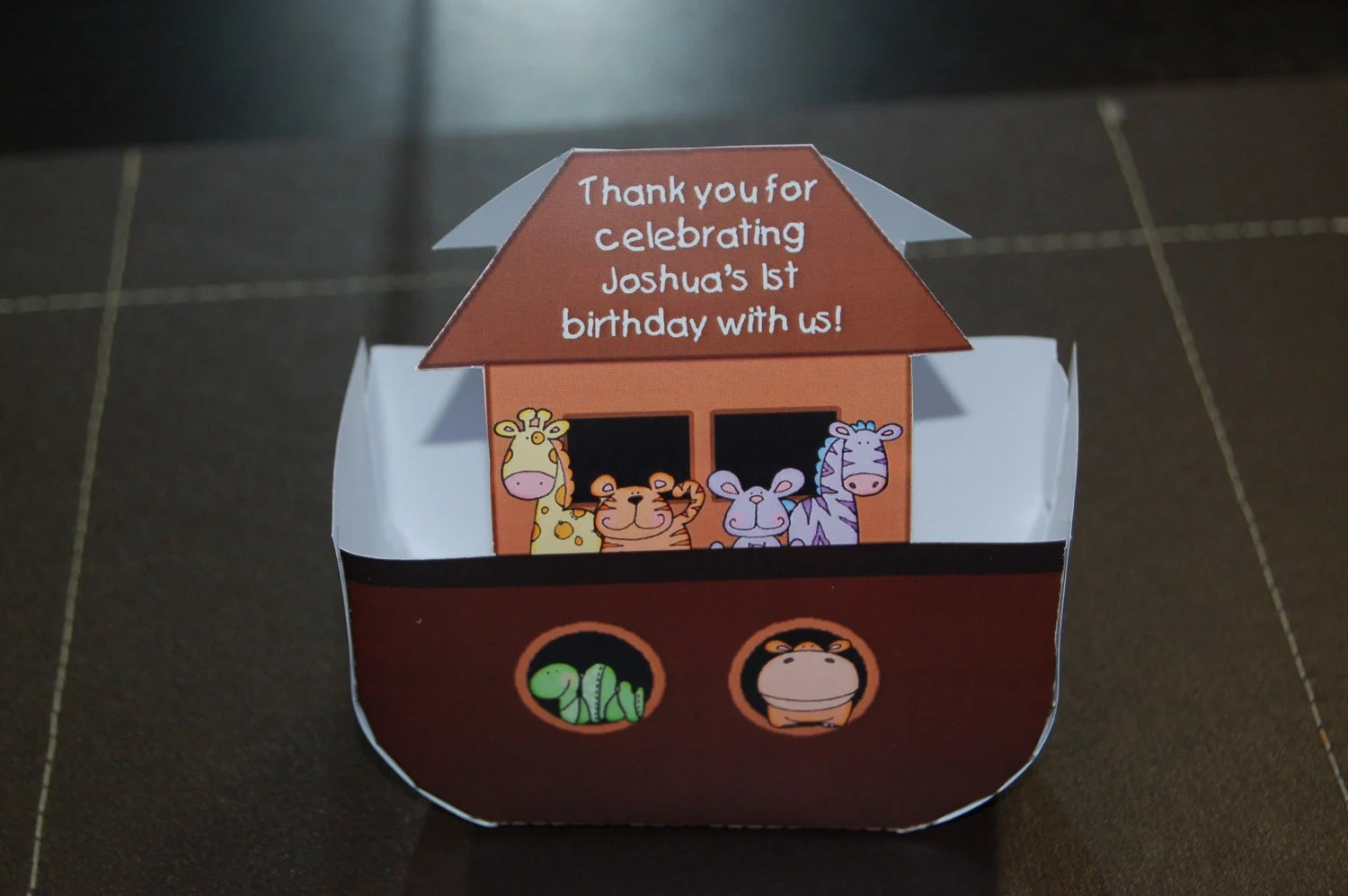 Personalized Printable Noah S Ark Party Baby Shower