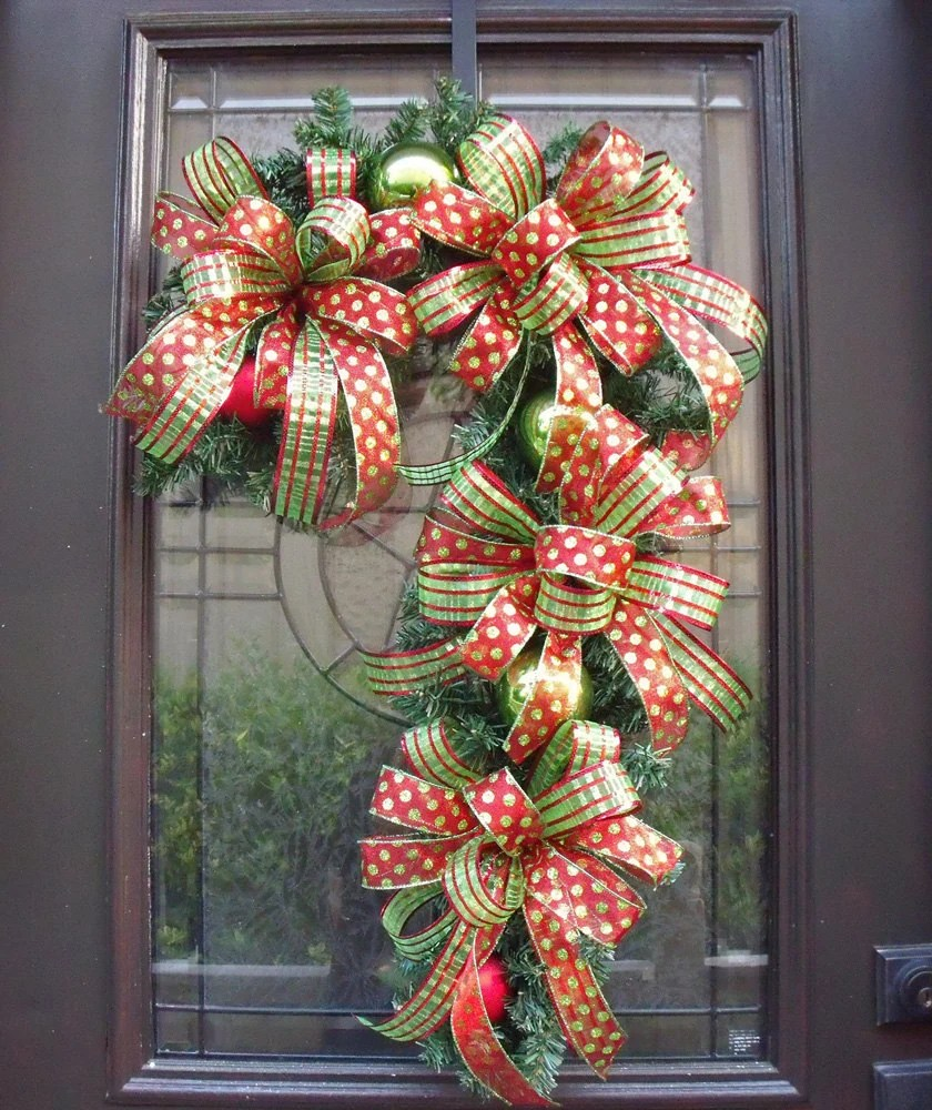 Candy Cane Wreath Christmas Wreath Candy Cane Decoration