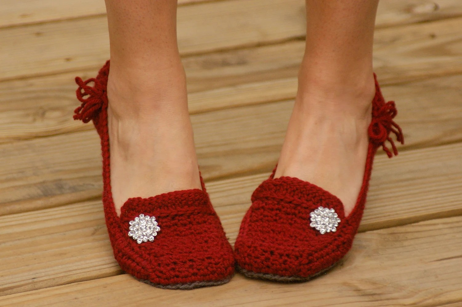 crochet pattern for womens house slippers pattern number 117