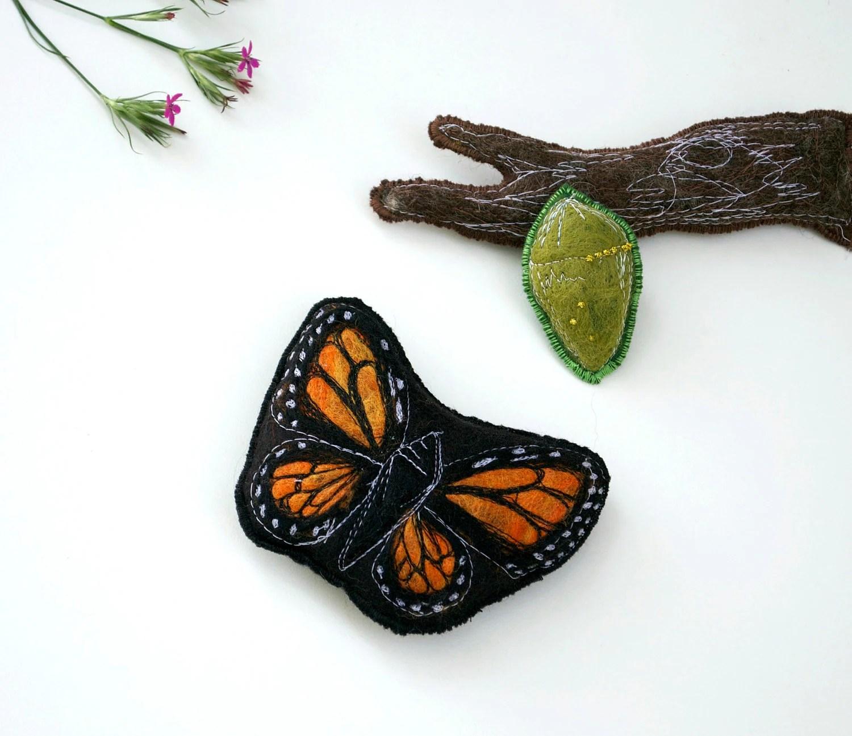 Handmade Montessori Work Magnetic Monarch Butterfly Life