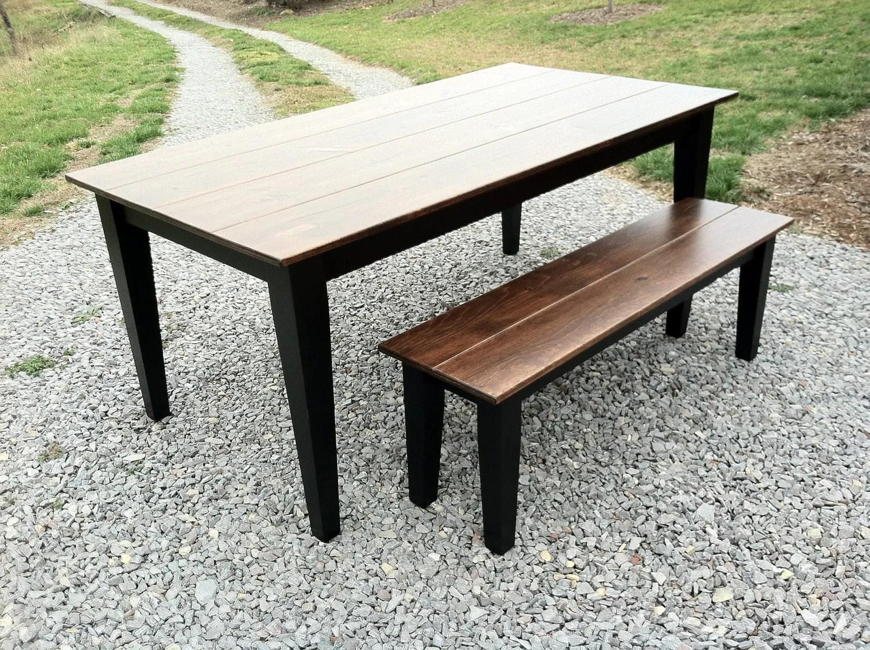 Farmhouse Style Table Etsy Farm Tables Farm Tables Rustic