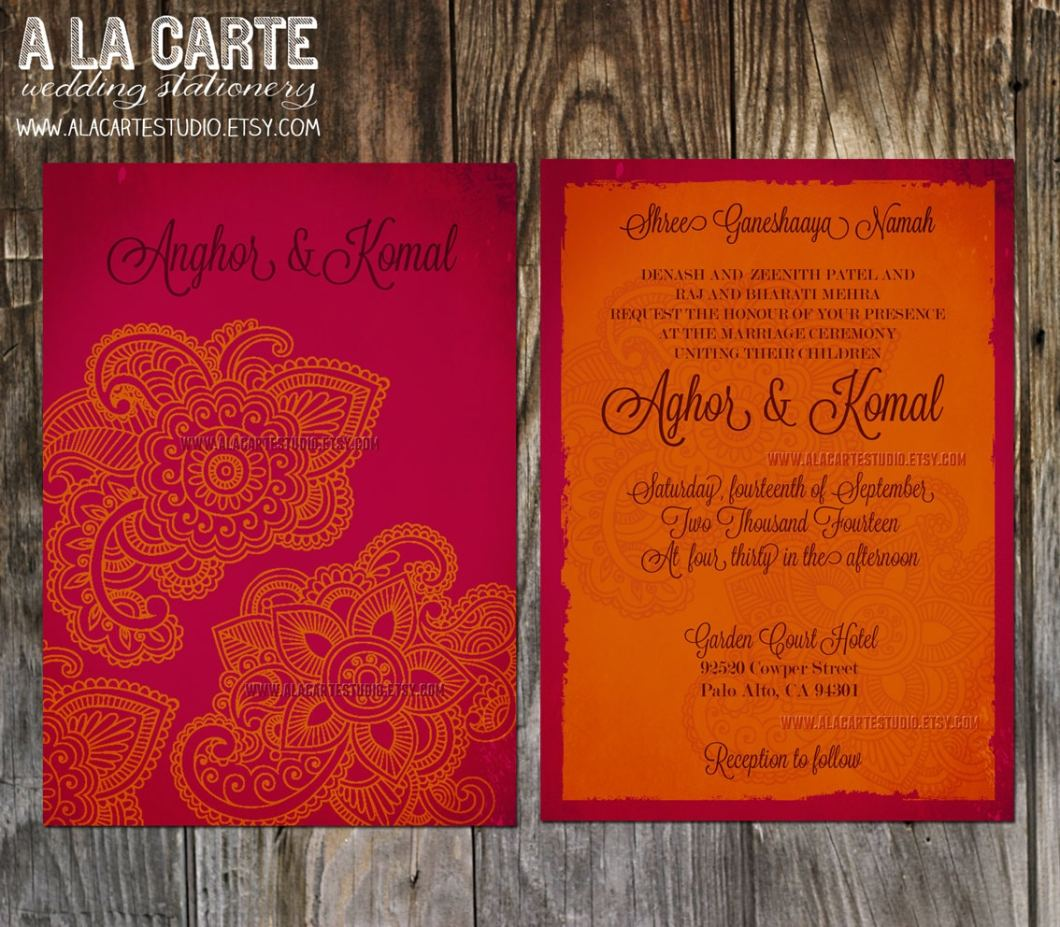 Prepare Indian Wedding Invitation Card Online Free | Invitationjdi.co