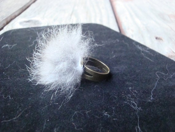 Rabbit Fur Ring - ACuriousManagerie
