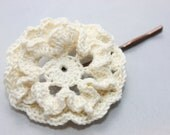 Crochet Hair Pin Antique White - NualaCrochet