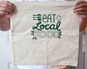 Eat Local silkscreen tote bag - exit343design