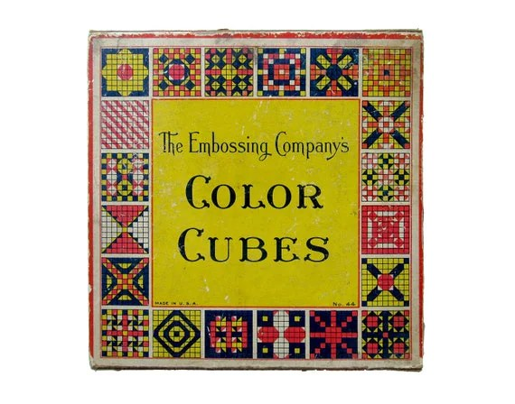 Vintage COLOR CUBES By The Embossing Company Set Of 81